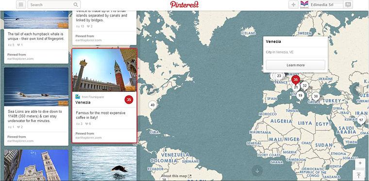 Mappa Place Pins Pinterest
