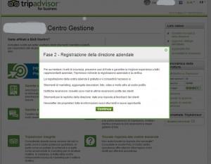 registrazione come direzione aziendale su TripAdvisor
