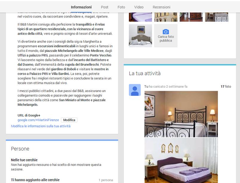 Completiamo le informazioni della scheda Google Plus Local