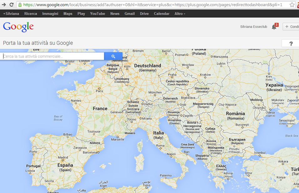 Inserimento e ricerca azienda su Google Places for Business