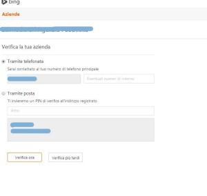Rivendicare Scheda su Bing Places