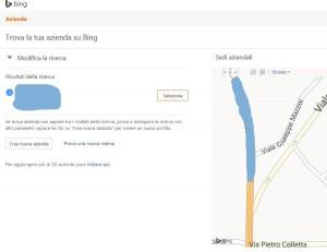 Trovare azienda su Bing