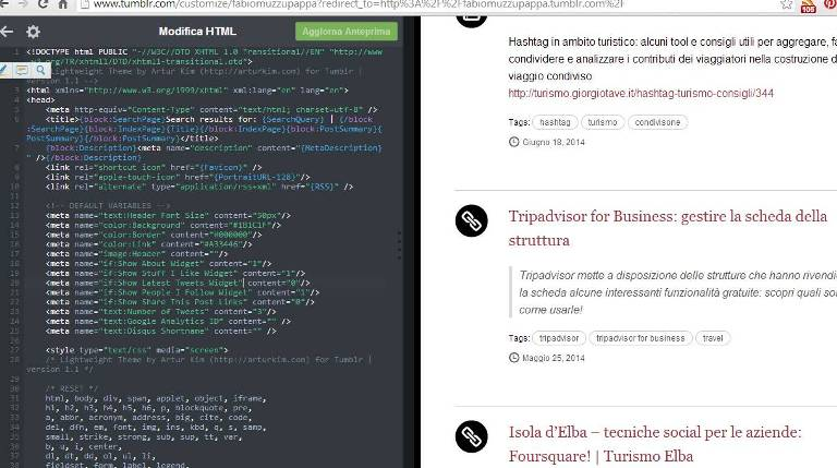tumblr codice tema