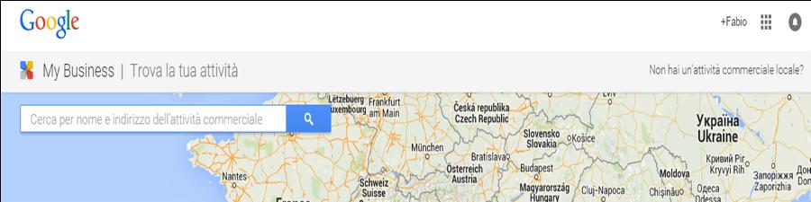 verifica presenza attività su google